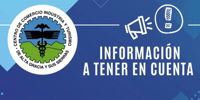INFORMACIÓN A TENER EN CUENTA – LUNES 1 DE JUNIO DE 2020